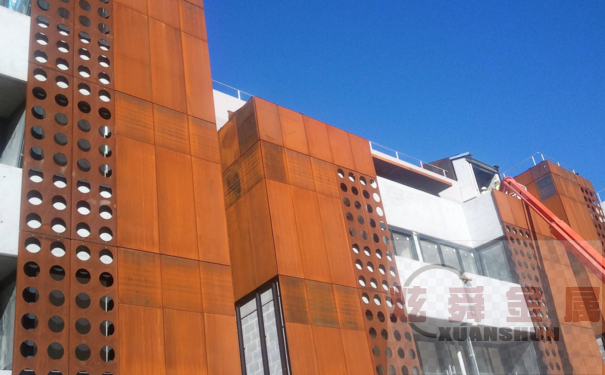 Q355GNH耐候钢板怎样做幕墙